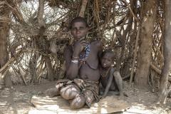 Dassanech Grandmama with Nephew Omorate Zone Ethiopia