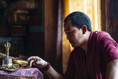 Monk in Hemis Monastry Ladakh India