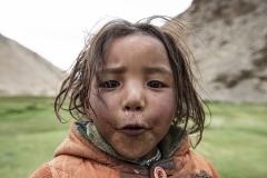 Nomad Child Changtang Area Ladakh India