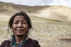 Nomad Changpa Woman Tsokara Area Ladakh India