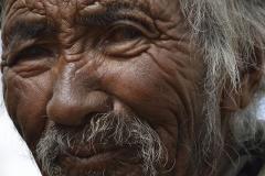 Portrait of Nomad Changpa Man Tsokara Area Ladakh India