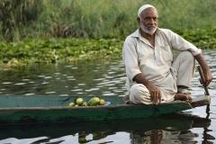 Muslim Boatman on Dal Lake Srinagar Kashmir India
