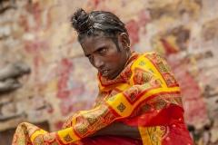 Woman after Gange River Sacred Bath Varanasi Uttar Pradesh