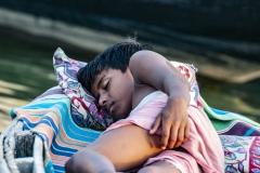 Boy Sleeping Varanasi Uttar Pradesh India