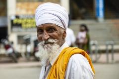 Sikh Man Walking Amristar Punjab India