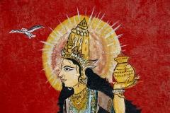 Street Religious Art Varanasi Uttar Pradesh India