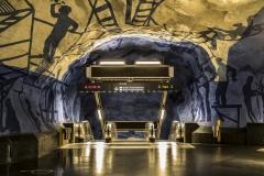 Street Art Tunnelbana T-Centralen Station Stockholm Sveden