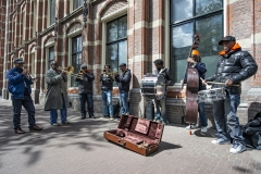 Musicians Street Amsterdam Holland