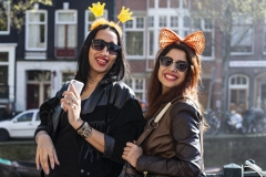 Double Girls King's Day Amsterdam Holland