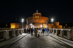 Sant'Angelo Castel Night Landscape Rome Italy