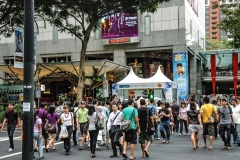 Crowd of People Orchard Road Singapore