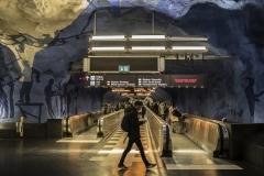 Tunnelbana T-Centralen Station Stockholm Sveden