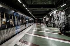Tunnelbana Tekniska Högskolan Station Stockholm Sveden