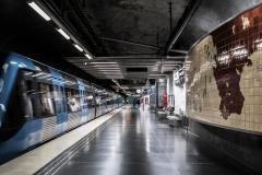 Tunnelbana Universitetet Station Stockholm Sveden