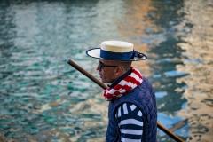 Gondola Sailor Man Venice Italy