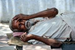 Old  Man Sleeping Jaunpur Uttar Pradesh India, Travel