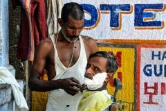 Street Barber Varanasi Uttar Pradesh India