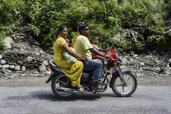 Bike family Trasportation Street for Dehradun Uttarakhand India