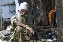 Barman on the Street Chandigarh Punjab India