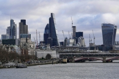 The City of London Landscape from Tamigi River England