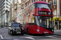 London Transport Bus and Taxi Cabs England
