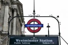 Underground Street Entrance London England