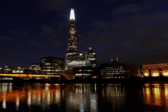The Shard Night Landscape From Tamigi River London England