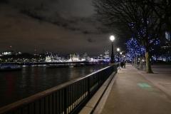 Riverside Promenade by Night London England