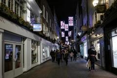 Love Signs Soho Street by Night London England