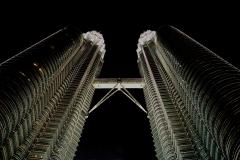 The Petronas Tower by Night Kuala Lumpur Malaysia