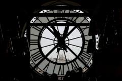 Sacre Coeur View trought Orsay Museum Clock Paris France