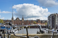 Central Station Landscape Amsterdam Holland