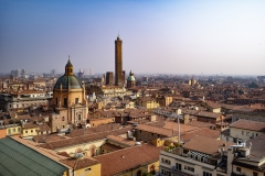 Two Towers Landscape Bologna Italy