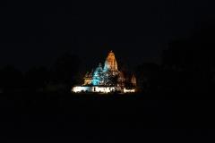 Khajuraho Temple Nigth Landscape Madhya Pradesh India
