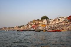 Darbhanga Ghat  Landscape from Ganges Varanasi Uttar Pradesh India
