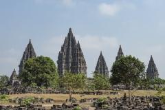 Prambanan Temples Landscape Java Indonesia