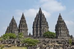PrambananTemples Landscape Java Indonesia