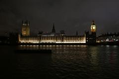 The Parliament Night Landscape London England