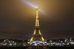 Tour Eiffel Night Landscape Paris France