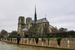 Notre Dame Cathedral Landscape Paris France