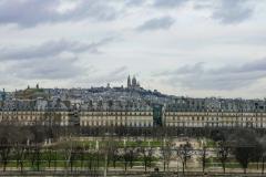 Sacere Couer Landscape from Tuileries Garden Paris France