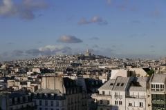 Sacre Coeur Through the Roofs Landscape Paris France