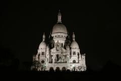 Sacre Coeur Night LAndscape Landscape Paris France