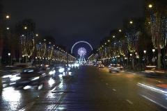 Champs Élysées Night Landscape Paris France