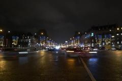 Champs Élysées Night Movement Landscape Paris France