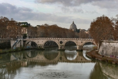 Sant'Angelo Bridge Landscape Rome Italy
