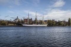 Nordiska Museum and Ship Landscape Stockholm Sveden