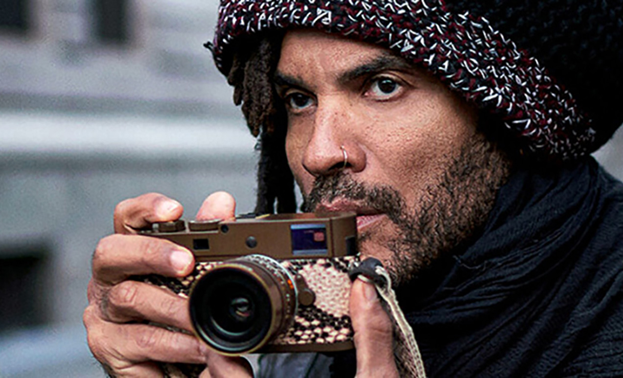 Lenny Kravitz with Leica